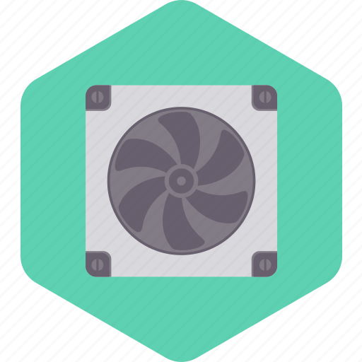 Device, fan, computer, technology, cpu icon