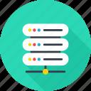 database, hosting, internet, network, server icon icon