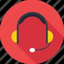headphone, headset, listening, music, sound icon icon
