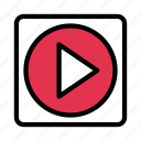 button, mp4, play, player, video