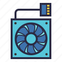 air, computer, cooler, cooling, fan, hardware, wind icon