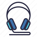 audio, earphone, headphone, headset, music, sound icon