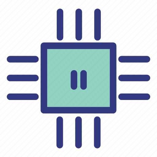 chip, computer, cpu, hardware, pc icon