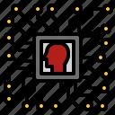 chip, computer, processor icon