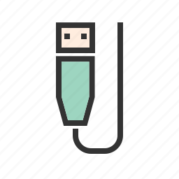 connector, cord, gadget, plug, usb plug, wire icon