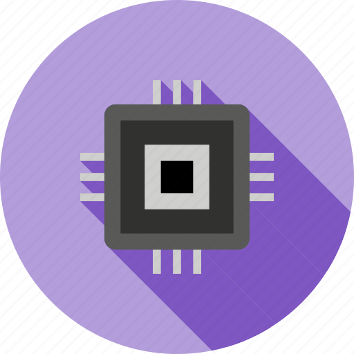 chip, computer, hardware, ic, integrated circuit, motherboard, processor icon