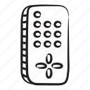 ac, remote, wireless remote, ac remote, wireless controller, air conditioner remote icon