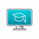 computer, education, help, knowledge, lesson, service icon