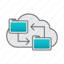 backup, cloud, data, data transfer, file, folder icon