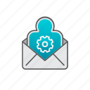 account, email, envelope, setup, support, user account icon