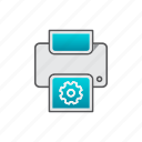 paper, printer, settings, support icon
