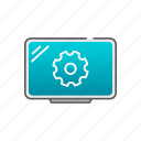 installation, settings, setup, tv, wallmount icon