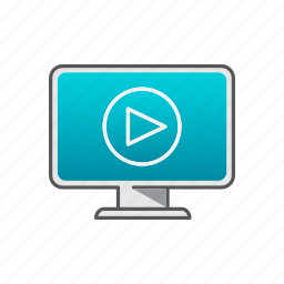 computer, live, streaming, video icon