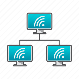 computer, connection, network, support, wifi, wifi network icon