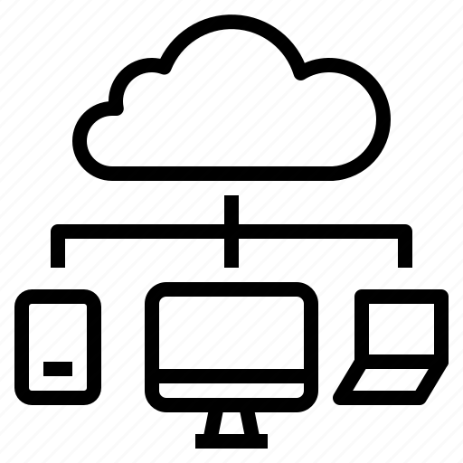cloud, computer, computing, device, network icon