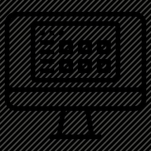 application, computer, monitor, program icon
