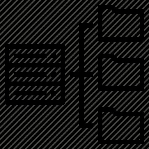base, data, file, folder, management, server icon