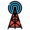 antenna, sign, signal, tower icon