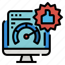 download, internet, network, quality, speed, test icon