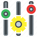 cogwheel, configuration, gear, levels, settings, tools, web icon