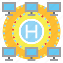 business, circles, connection, hub, network, networking