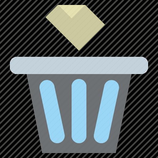 bin, delete, garbage, paper, rubbish, trash icon