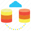 cloud, computing, data, interface, network, networking, storage icon