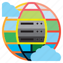 database, files, hosting, multimedia, network, server, storage icon