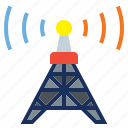 antenna, connectivity, electronics, radio, tower, wireless icon