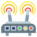 connectivity, electronics, internet, router, signal, wifi, wireless icon