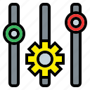 cogwheel, configuration, gear, levels, settings, tools, utensils icon