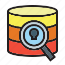 data, document, encrypted, file, folders, locked, security icon