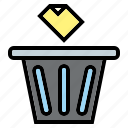 bin, delete, file, garbage, interface, trash icon