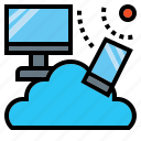 cloud, computing, multimedia, network, networking, phone, storage icon