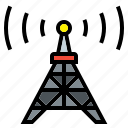 connectivity, electronics, internet, radio, signal, technology, tower icon