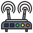connectivity, internet, router, signal, technology, wifi, wireless icon