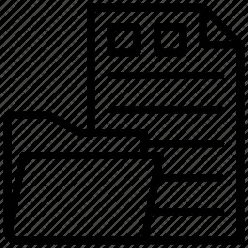 archives, binders, data folder, files, office folder icon