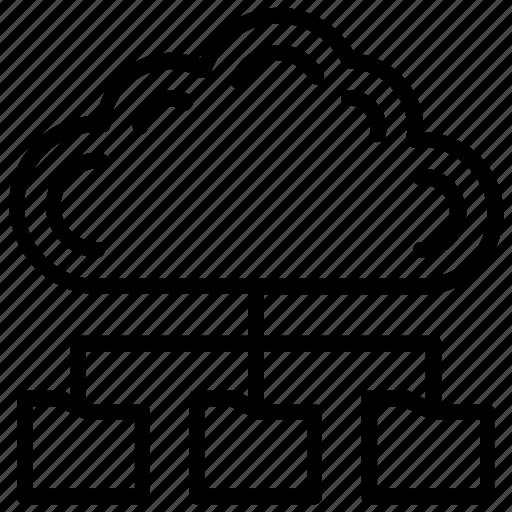 Big data, cloud backup folder, cloud computing, cloud data storage, integrate cloud icon - Download on Iconfinder