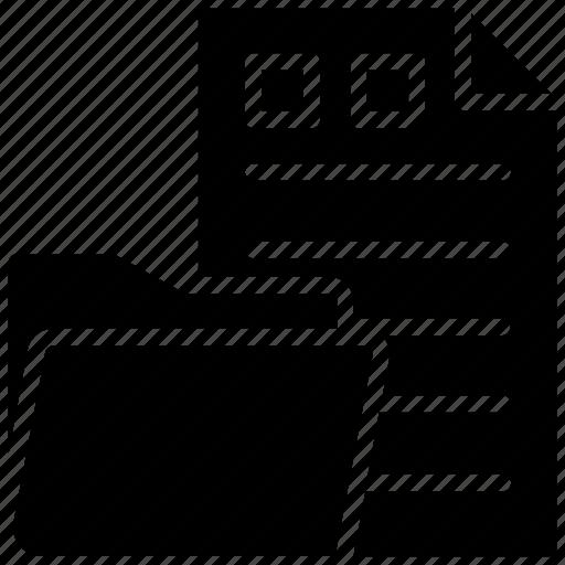 archives, data folder, documents, file folder, stationery icon