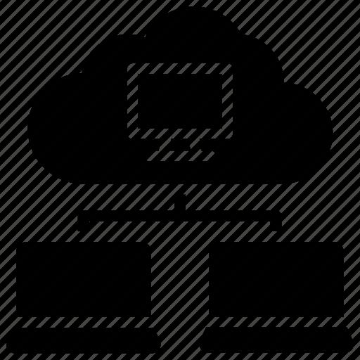 big data, cloud connection, cloud hosting, cloud network, datacenter icon