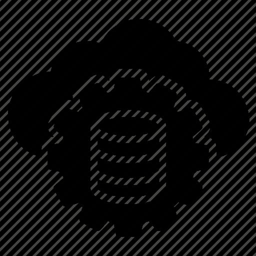 Cloud database, cloud hosting, cloud server, database management, web hosting icon - Download on Iconfinder