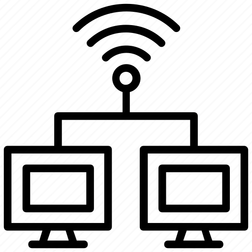 shared internet connection, wifi connected, wifi network, wifi signals, wireless signals icon