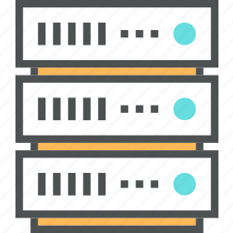 cluster, database, hosting, network, rack, server, storage icon