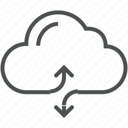 cloud, computing, data, exchange, hosting, information, server icon