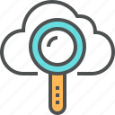 cloud, computing, database, optimization, search, searching, server icon