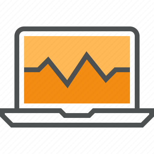 analysis, chart, dashboard, graph, laptop, monitoring, system icon