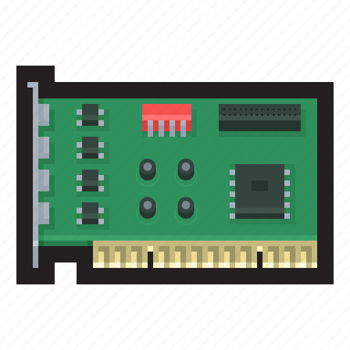 Pci, card, peripheral, component, interconnect, bus icon - Download on Iconfinder