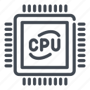 chip, computer, cpu, hardware, part, processor icon