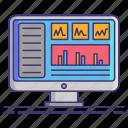 computer, dashboard, technology icon