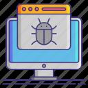 bug, computer, debug icon
